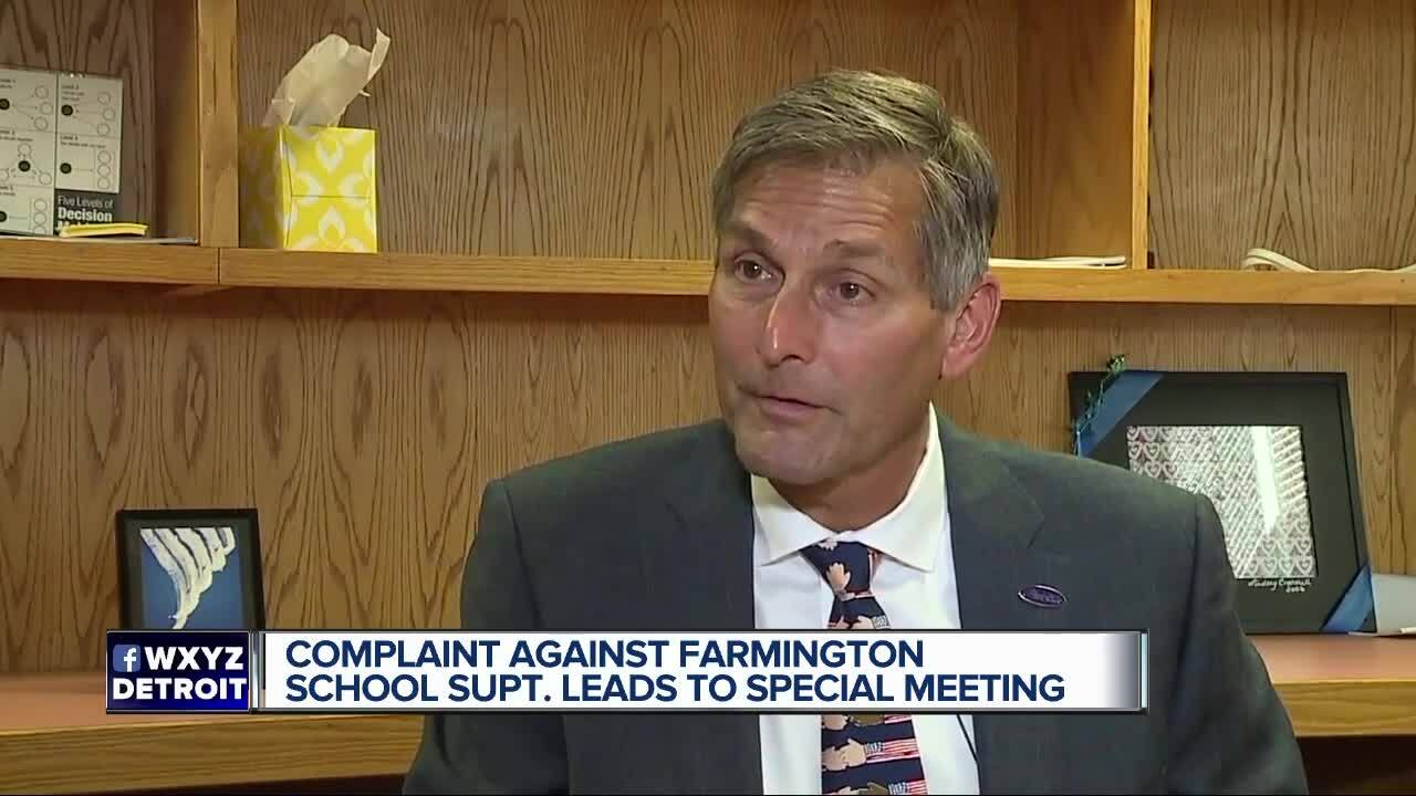 Farmington school board holds holiday break meeting for complaint against  superintendent