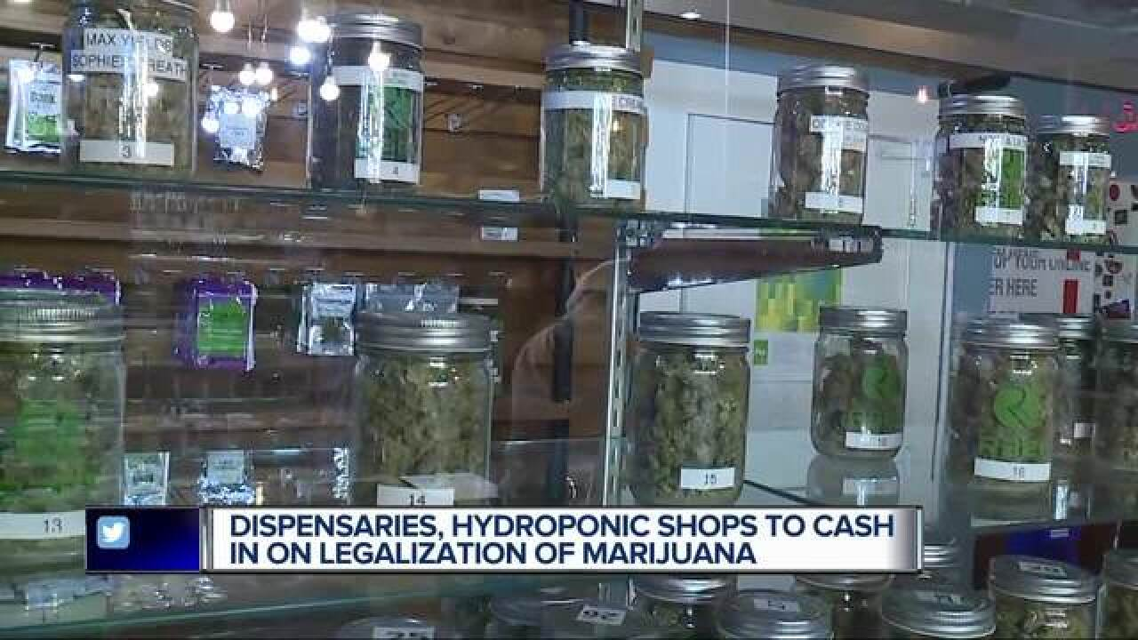 Businesses seeing dollar signs around legal weed