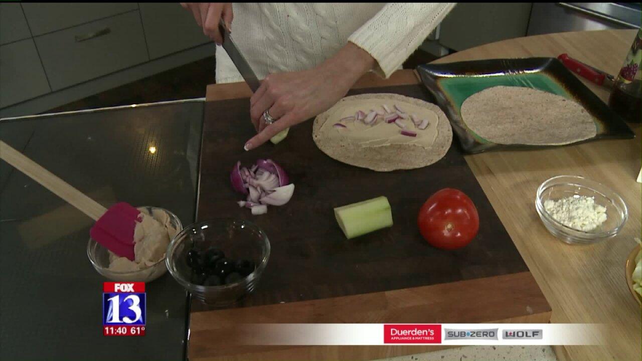 Greek Veggie SandwichWraps