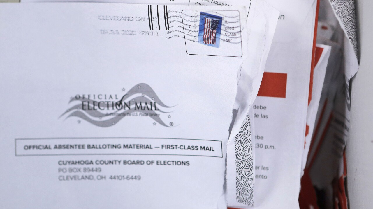 Does mail-in voting favor one party over another?