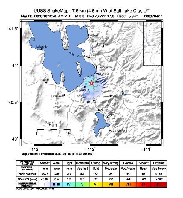 Thursday morning aftershocks