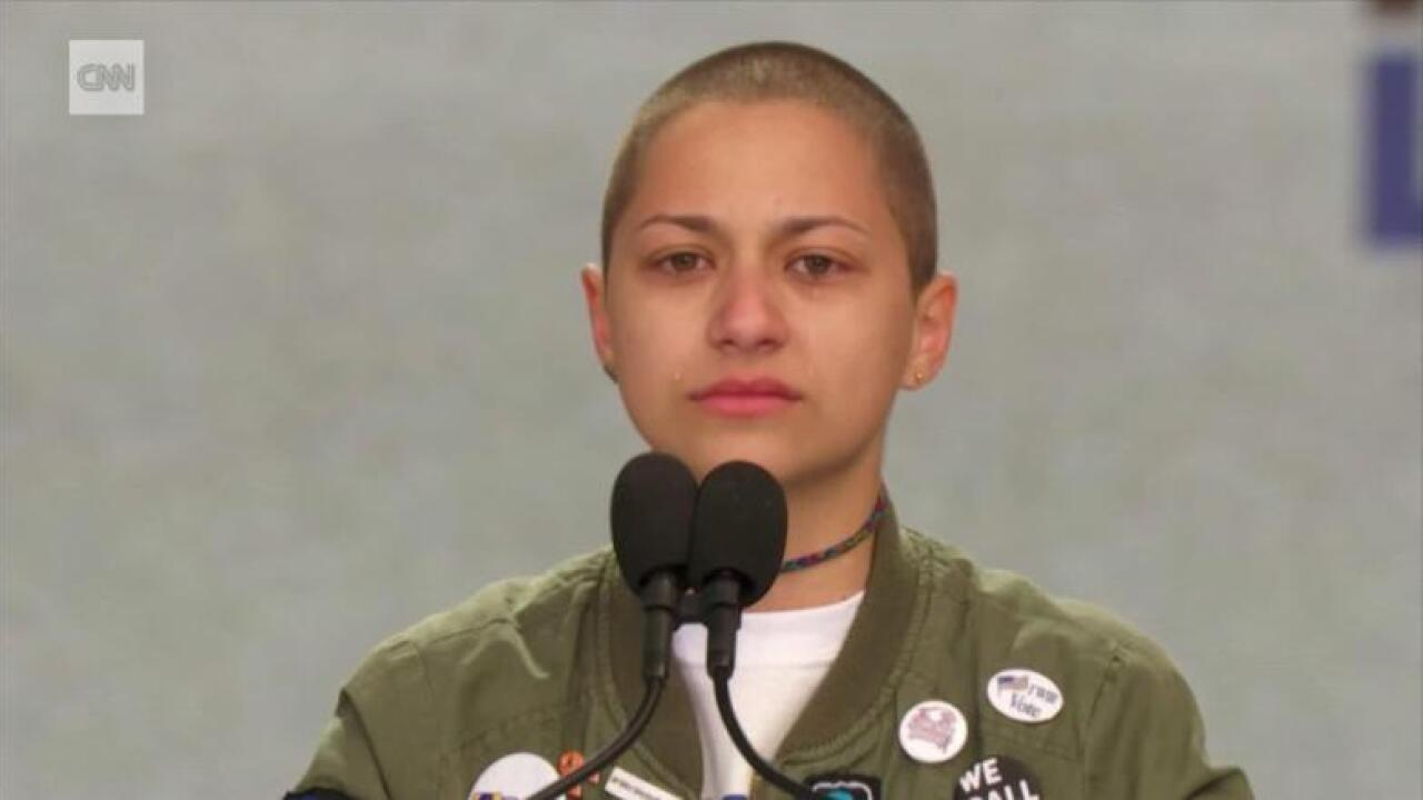 Emma Gonzalez stood on stage for 6 minutes – the length of Parkland shooting spree