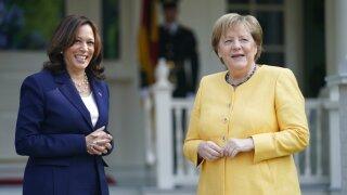 Kamala Harris, Angela Merkel