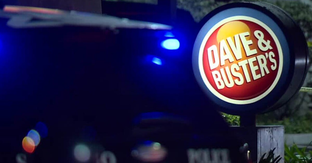 Man stabbed during fight outside Dave & Buster's restaurant