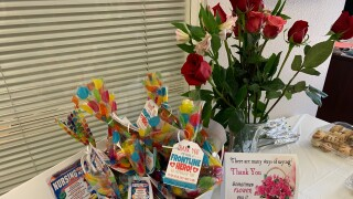 Flowers and goodies provided to staff.jpg