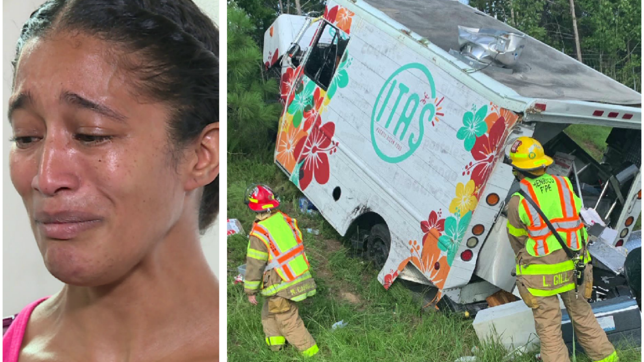 Family loses business after rollover food truck crash on I-64: 'I can't believe I survived it'