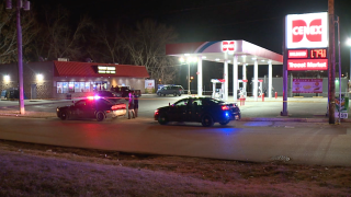 Man killed outside gas station