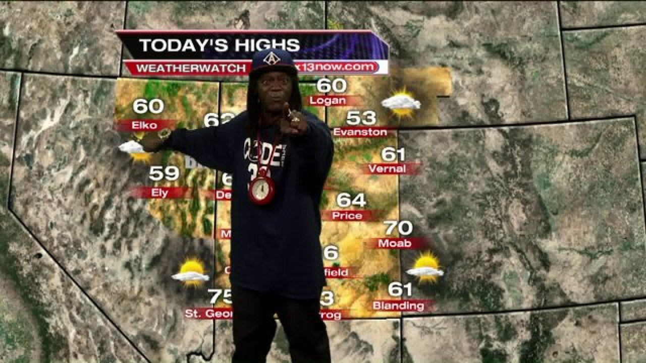 Flavor Flav delivers the weather