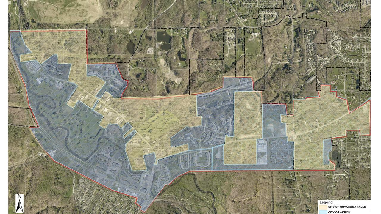 Akron Cuyahoga Falls Merriman Valley area master plan
