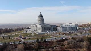 Utah State Capitol fall