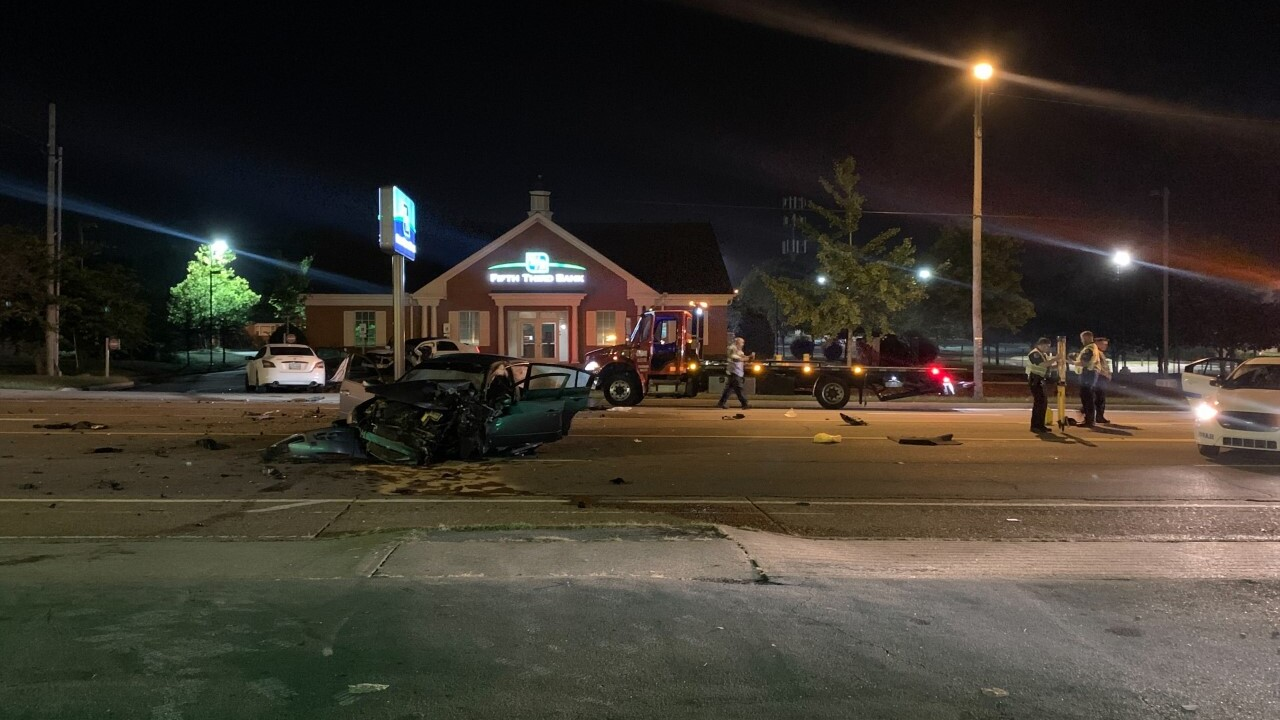 A woman was killed in a head-on crash in Madison Wednesday.