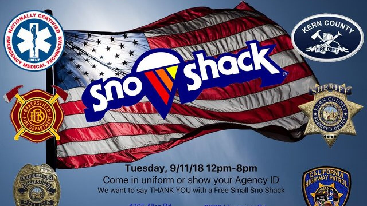 Sno Shack honoring first responders on last day of season