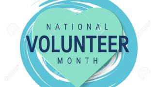 National volunteer month concept in flat style