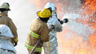 177th Fighter Wing firefighter training
