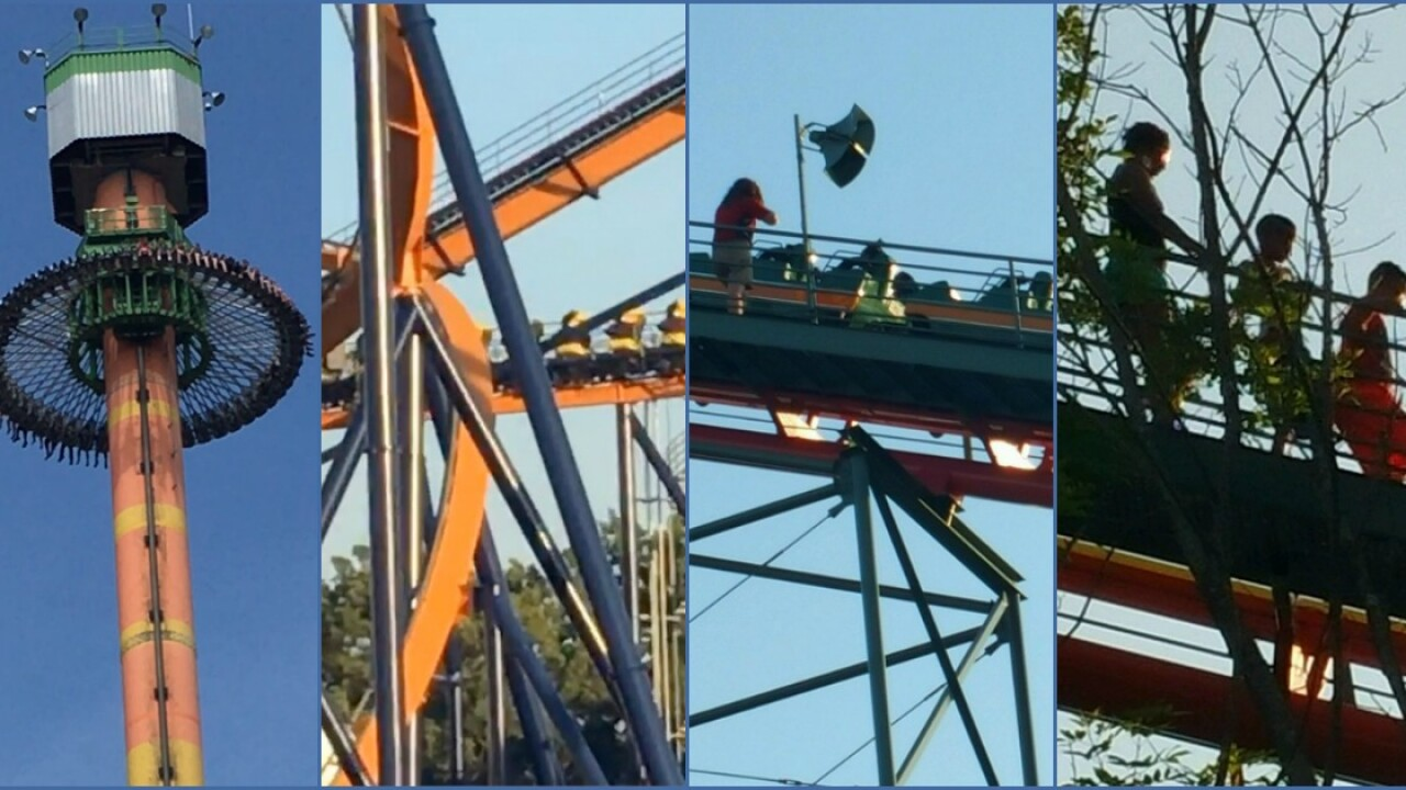Riders stranded at Kings Dominion: 'We are stuck on theAnaconda'