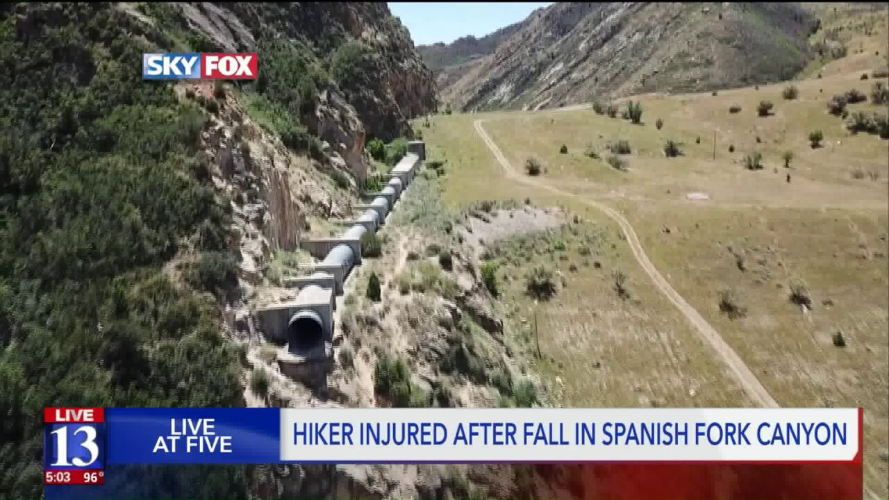 Man critically injured after falling 150 feet from drainage tunnel in Spanish Fork Canyon