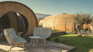 Spend The Night In A Giant Wine Barrel At This Gorgeous Vineyard