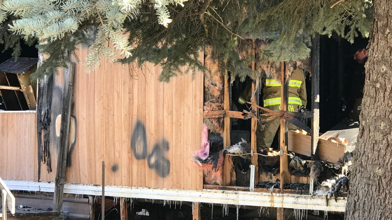 Crews battle early morning fire in Evergreen