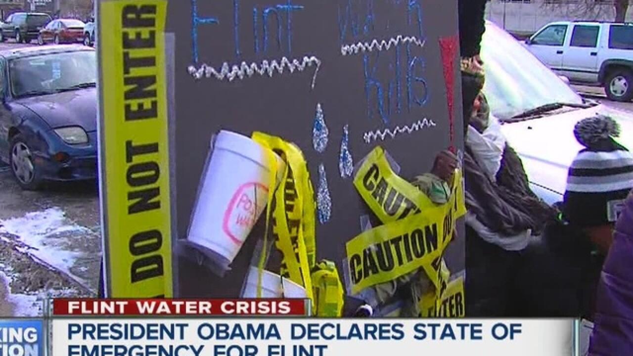 Obama signs declaration for federal aid in Flint