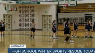High school winter sports resume today