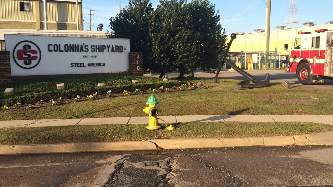 3 workers hospitalized after flash fire at Colonna's Shipyard inNorfolk