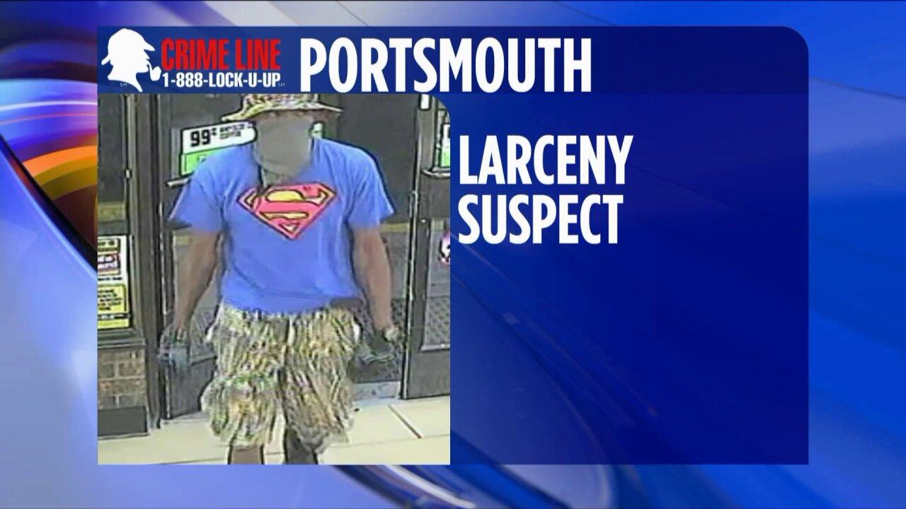 Surveillance video shows suspect taking cash drawer from Portsmouth7-Eleven