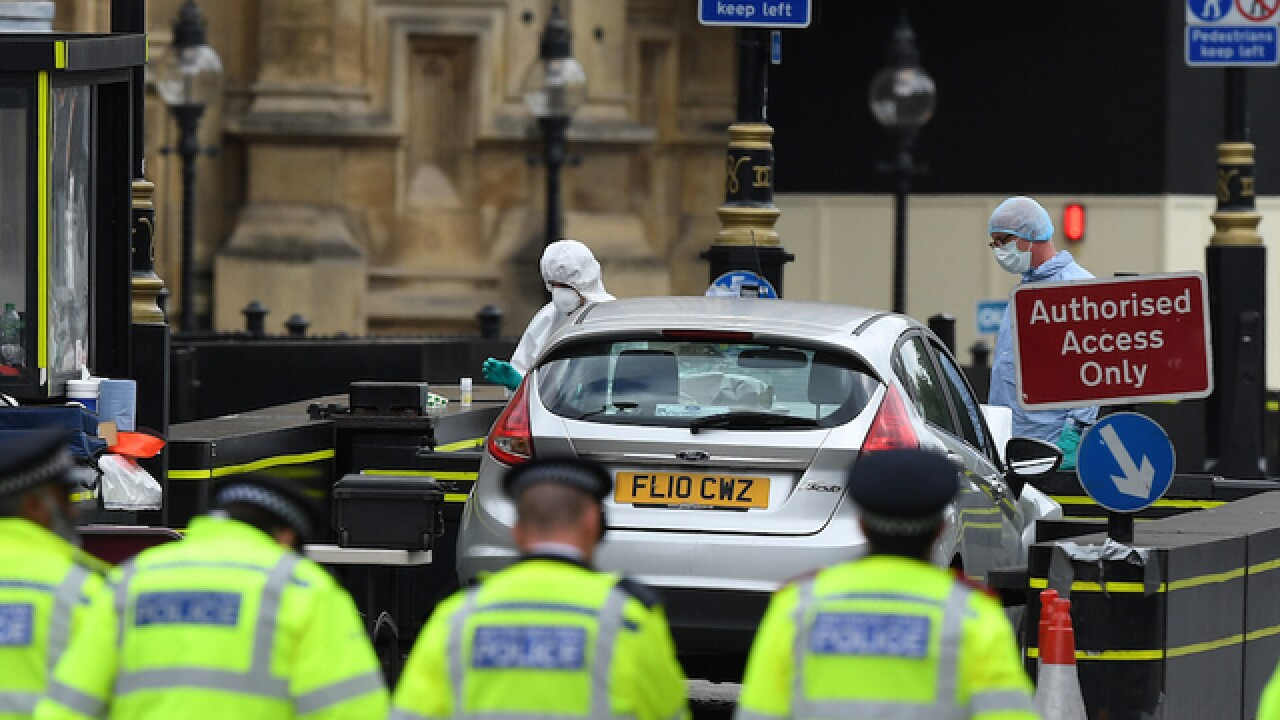 Man who crashed car outside UK Parliament charged with attempted murder
