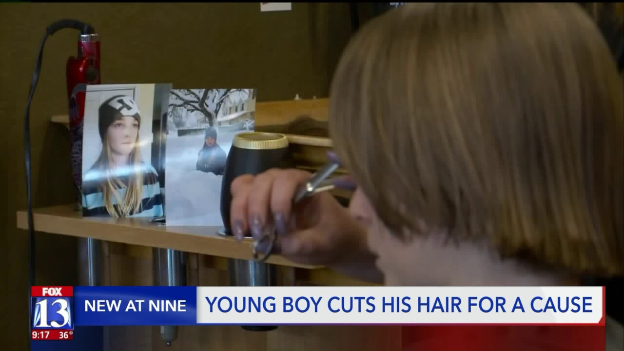 West Jordan boy grows hair out for 2 years to donate to goodcause