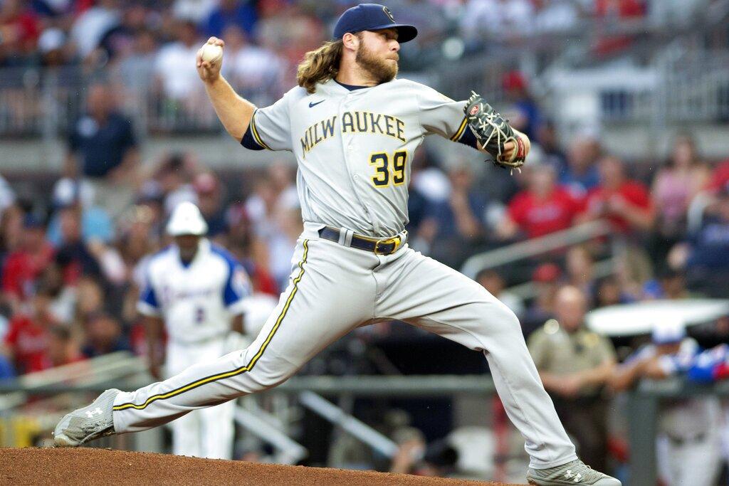 Brewers Braves Baseball
