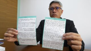 Letter received from Citgo 6 detainee