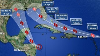 2 tropical systems could impact Gulf Coast on the same day