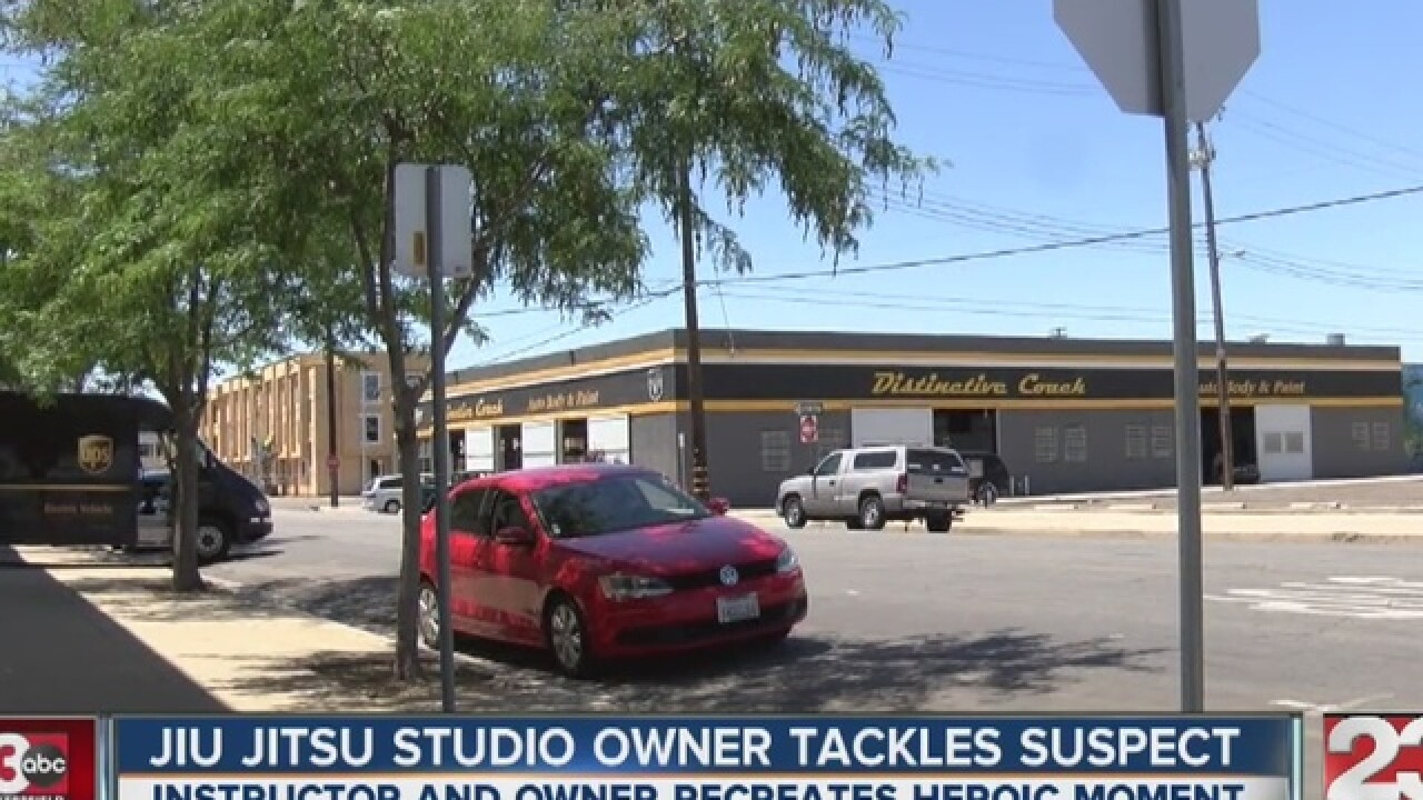 JiuJitsu studio owner recreates heroic act