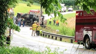 Semi crash Harrison
