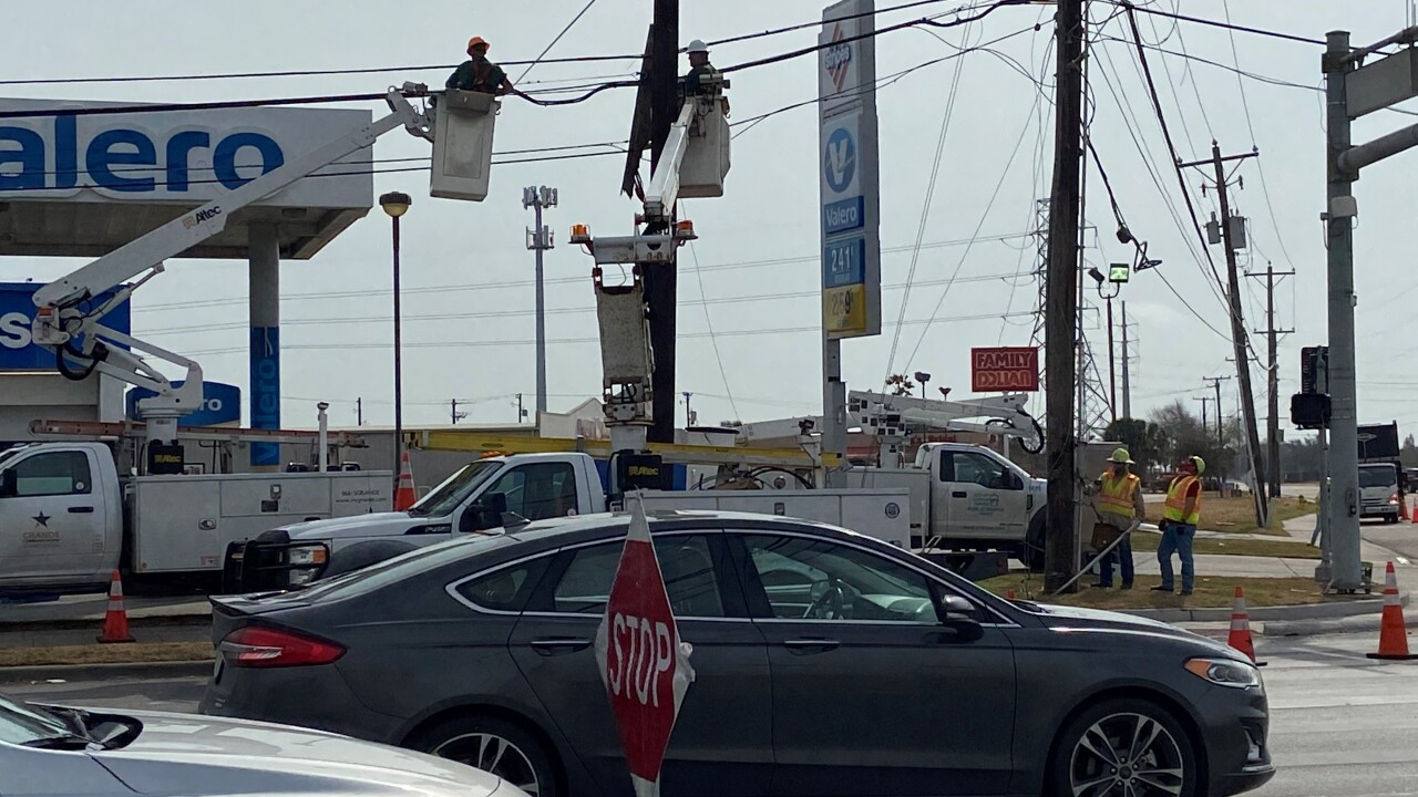 Crews are working to restore power