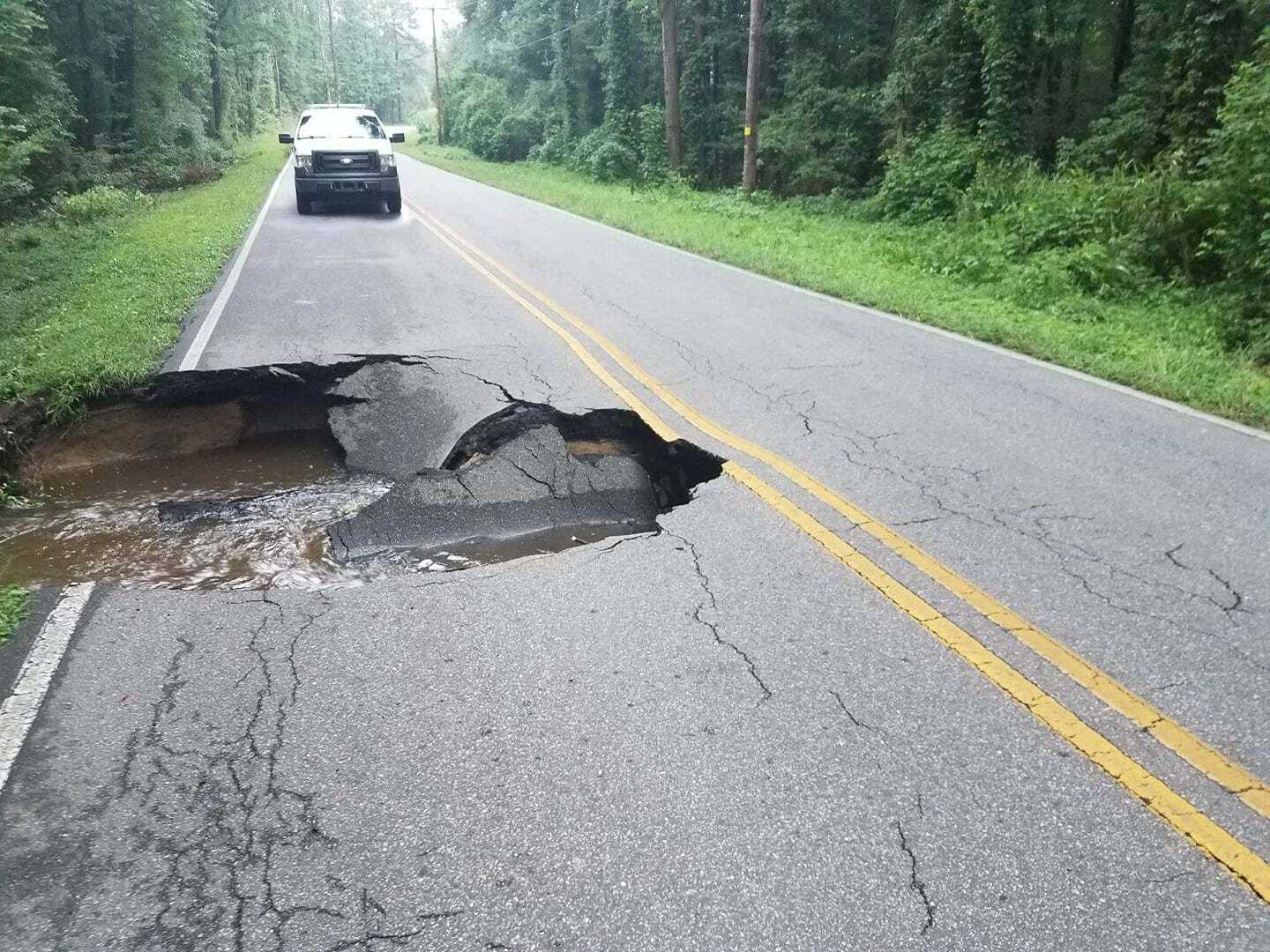 Photos: Section of Pasquotank County roadway washedaway