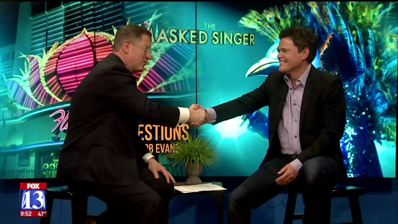 3 Questions with Bob Evans: Donny Osmond talks about being the peacock on 'The MaskedSinger'