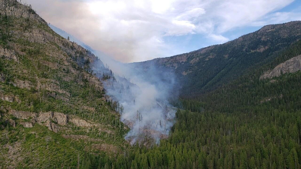 Crews battling wildfire in Swan Mountain Range