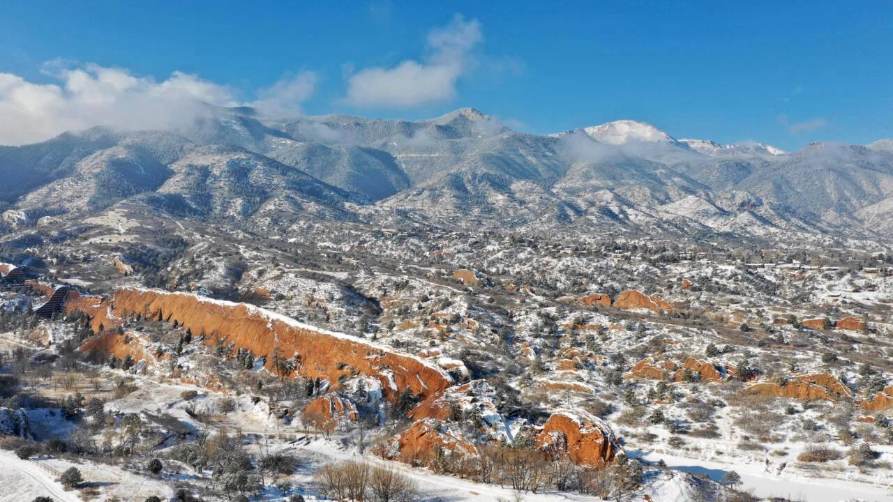 Michael Randol Red Rocks Open Space fresh snow
