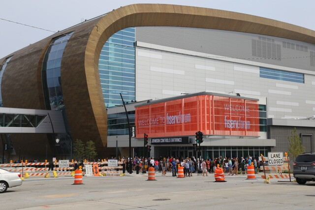 Fiserv Forum celebrates one millionth fan.