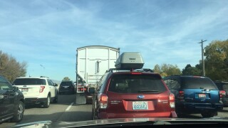 Multiple lanes blocked on eastbound I-84 due to crash