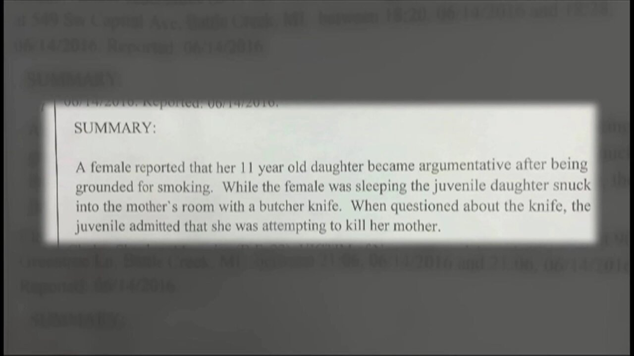 11-year-old girl pulls knife on mom after being grounded