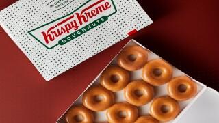 Get a dozen free doughnuts from Krispy Kreme this week