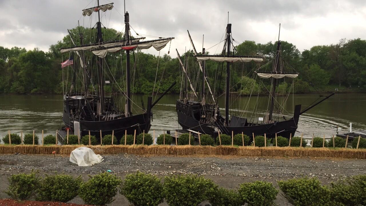 Replicas of Columbus ships the Niña and the Pinta open for tours at RockettsLanding