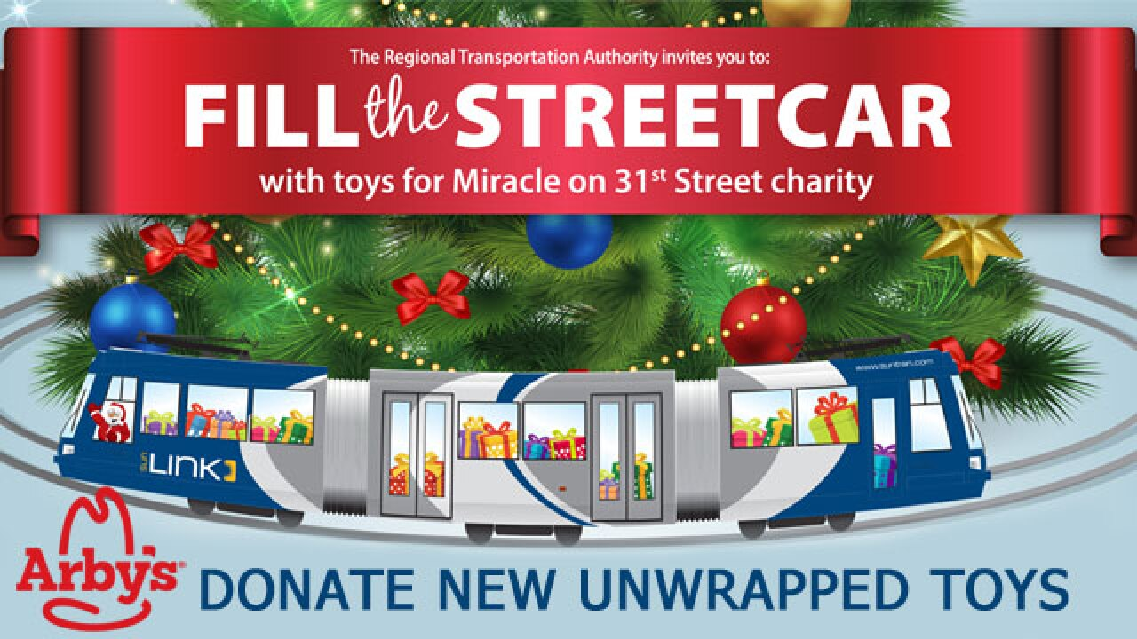 """Help """"Fill the Streetcar"""" with toys for Miracle on 31st Street!"""