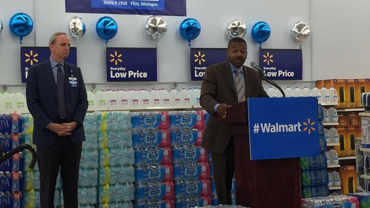 Walmart donates water for Flint students