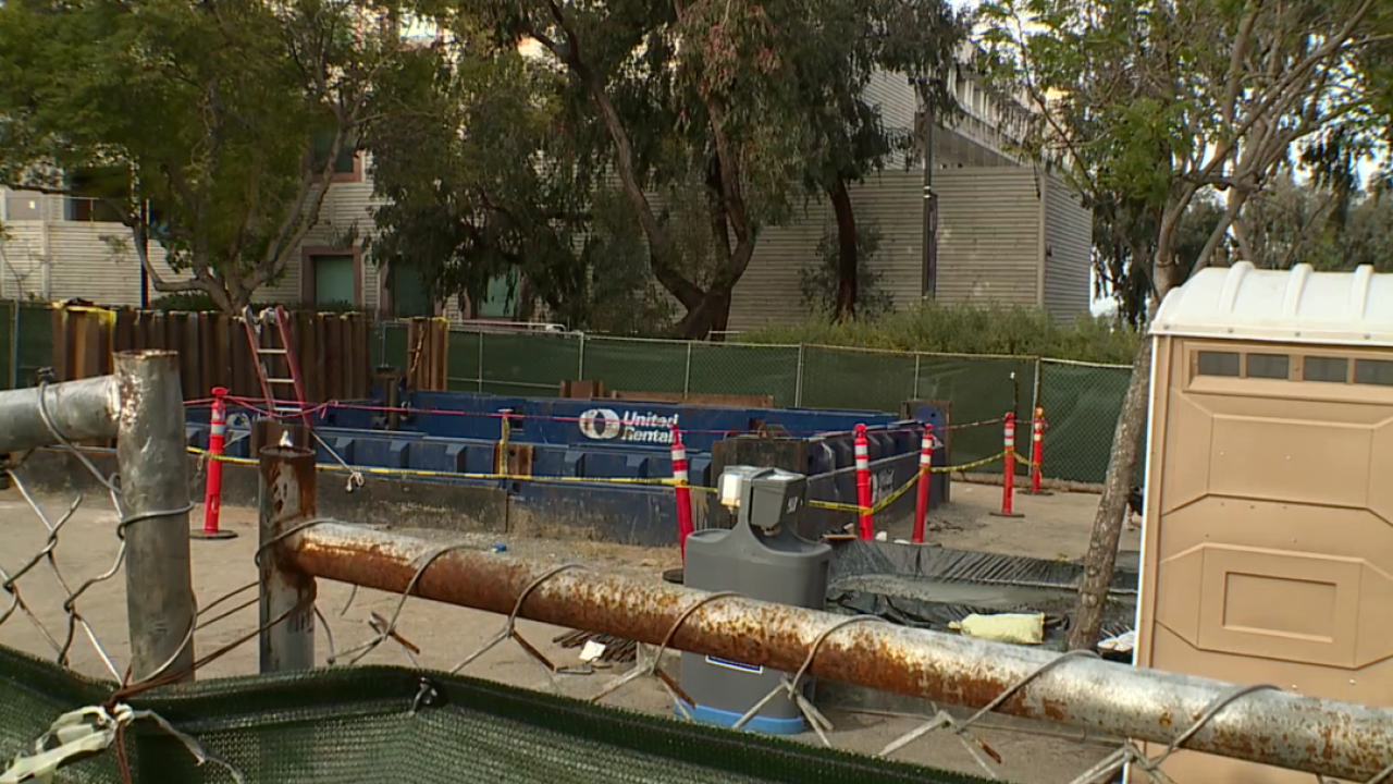Crews rescue man who fell into 30-foot trench at UCSD