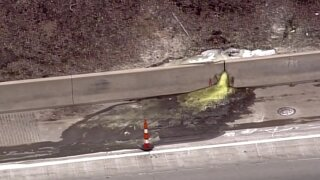 A cancerous green slime was found oozing onto a Detroit highway, officials say