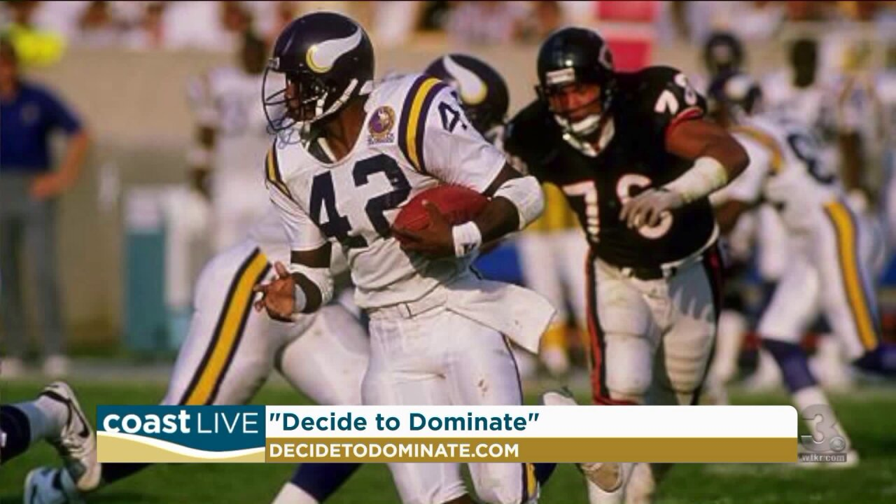 Former two sport pro DJ Dozier with his new book on CoastLive