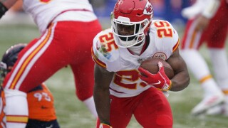 Chiefs Broncos Football Clyde Edwards-Helaire