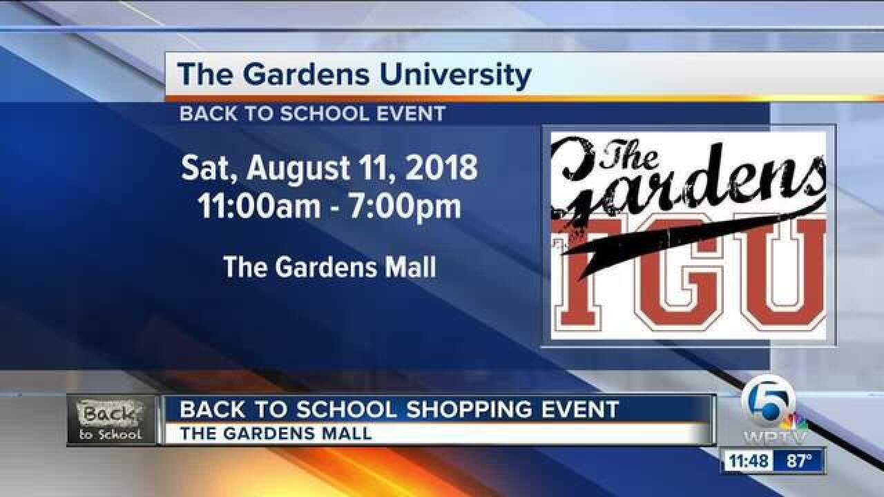 Back to school shopping event at the Gardens Mall